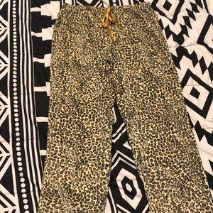 Cheetah pajama pants!
